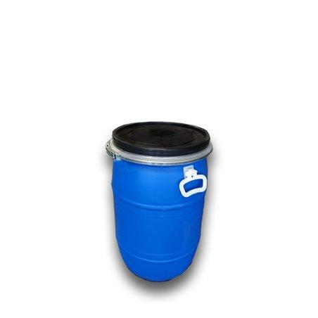 Bidón de plástico con boca ancha de 60 litros